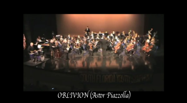 Oblivion – Joe Donato (Alto Sax) & The South Florida Youth Symphony